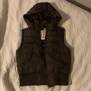 Girls medium Aeropostale brown hooded vest